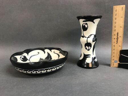 2 Pieces of Gouda Dutch Pottery c1920's