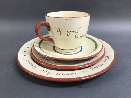 4 Piece Dartmouth Pottery Motto Ware Tea Set
