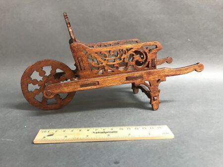 Edwardian Timber Fretwork Wheelbarrow