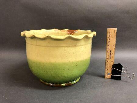 Australian Colonial Pottery Plant Pot c1880's