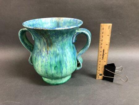 Beswick Art Deco 2 Handled Pottery Vase