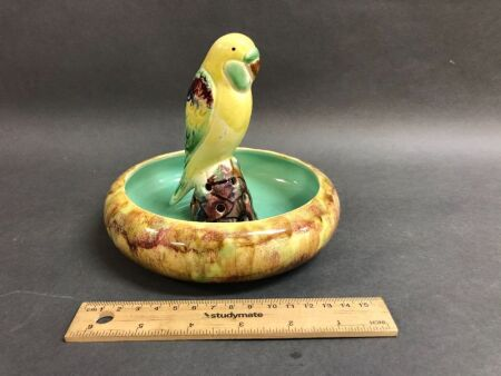 Sydney Pottery Float Bowl with Parrot c1930's